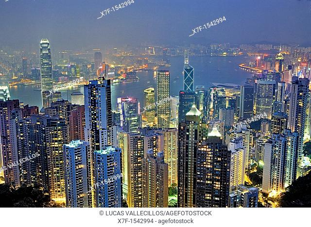 Cityscape from the Peak,Hong Kong, China