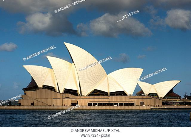 Iconic Sydney Opera House, side view. New South Wales, Australia