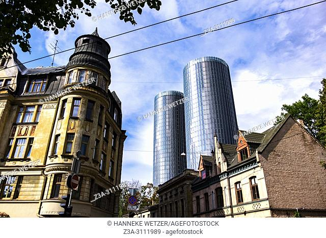 Newly built Z-Towers in Riga, Latvia, Europe
