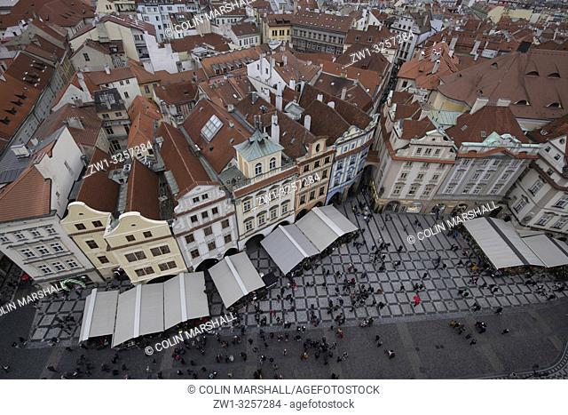 View from Old Town Hall, Old Town Square, Prague, Czech Republic
