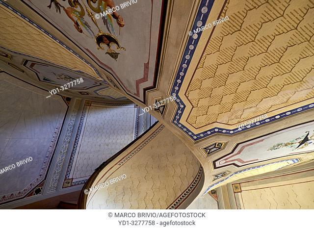 Vignola, Modena, Emilia Romagna, Italy. Barozzi Palace (Palazzo Barozzi) is an imposing palace completed in 1566-67. It rises in front of the fortress