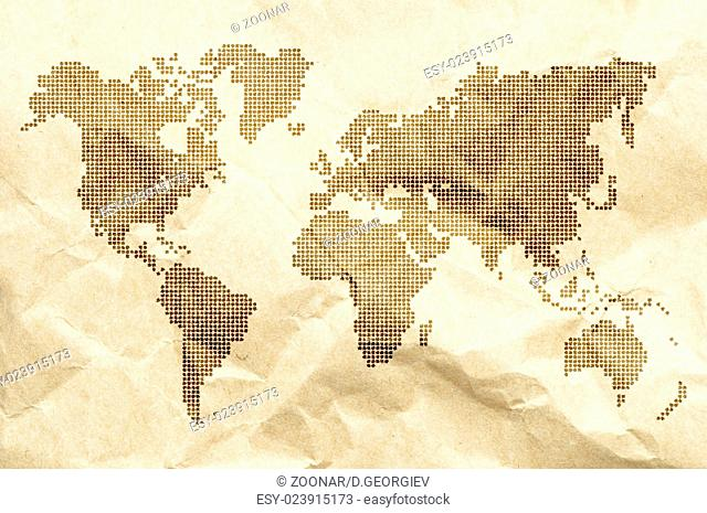 Dot World old style map background