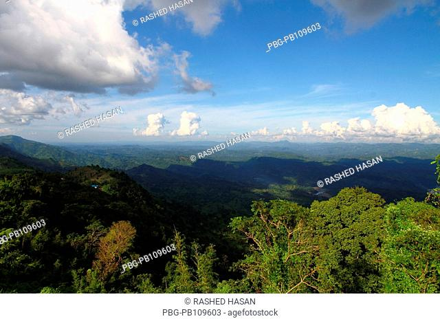 View of the Nilgiri Hill which is located 47 kilometers Southeast of Bandarban town on Chimbuk range, at a height of 2400 feet above sea level Bandarban