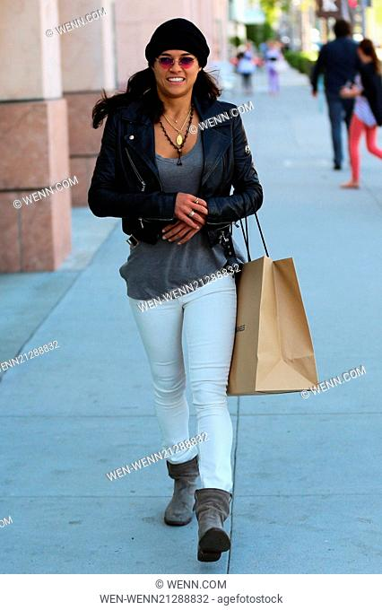 Michelle Rodriguez shops at James Pearce. Featuring: Michelle Rodriguez Where: Los Angeles, California, United States When: 22 Apr 2014 Credit: WENN