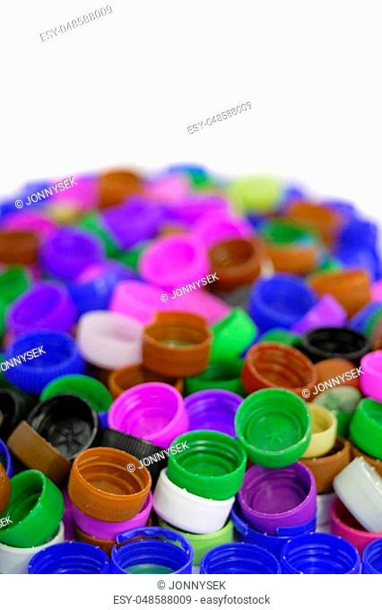 color caps isolated on the white background