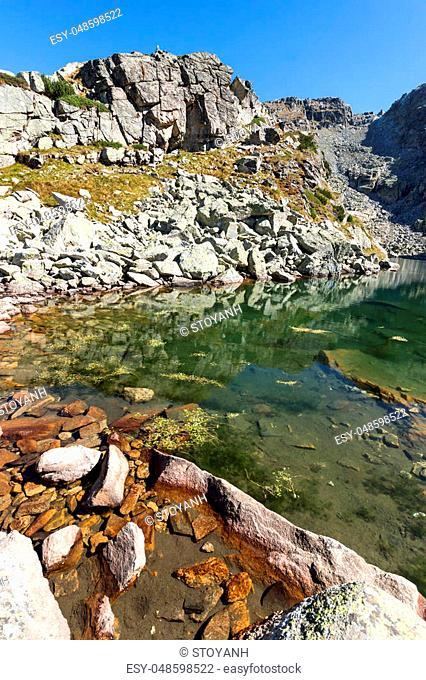 Amazing landscape of The Scary lake, Rila Mountain, Bulgaria
