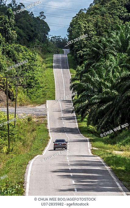 A road to Kampung Gumbang, Sarawak, Malaysia