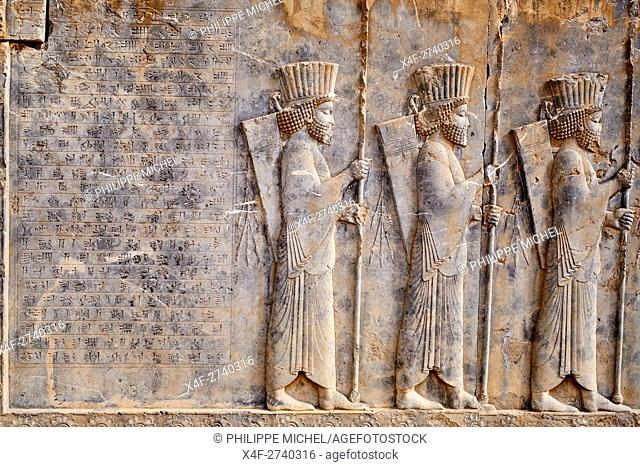Iran, Fars Province, Persepolis, World Heritage of the UNESCO, procession of the tributaries