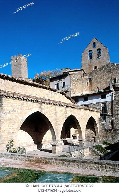 Old marketplace, Sos del Rey Católico. Zaragoza provincia, Aragón, Spain