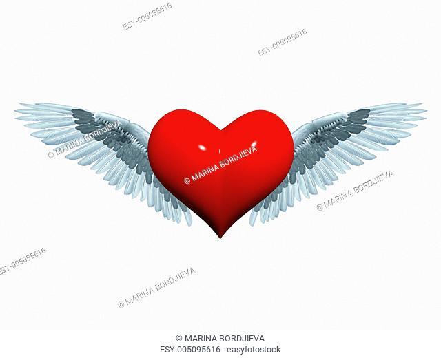 3d angel heart