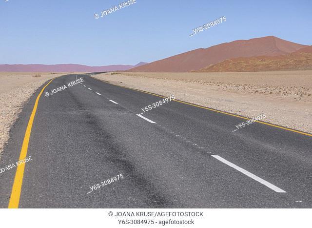 road to Sossusvlei, Namib desert, Namibia, Africa