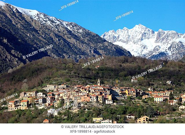 Village of Belvédère, Vésubie valley, Alpes-Maritimes, 06, Mercantour national park, PACA, France