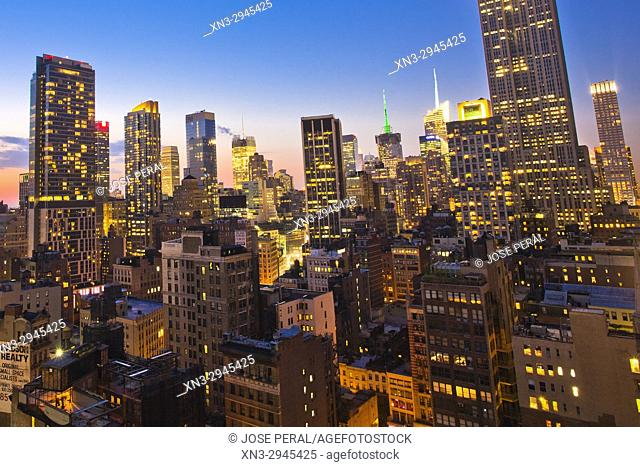 Midtown skyline, Manhattan, New York City, New York, USA