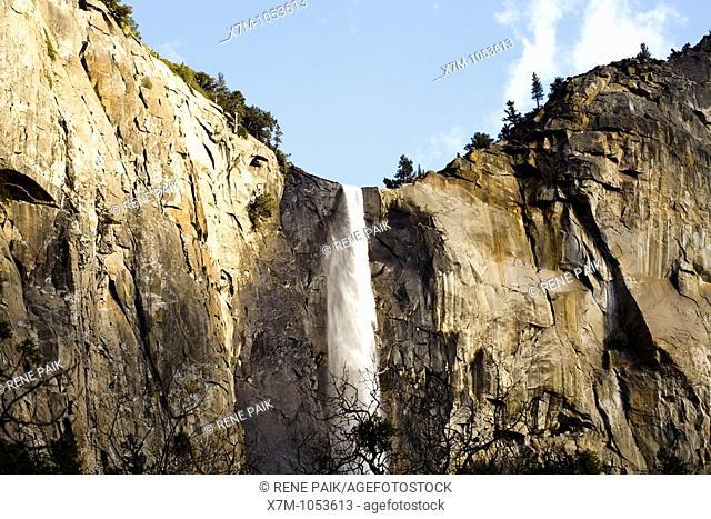Bridalveil Falls at Yosemite National Park in California