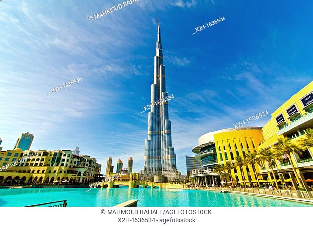 Burj Khalifa, world's tallest tower, in Dubai, United Arab Emirates
