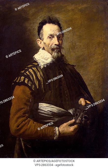 Domenico Fetti . Portrait of an actor . 1621. Hermitage State Museum - St Pétersburg