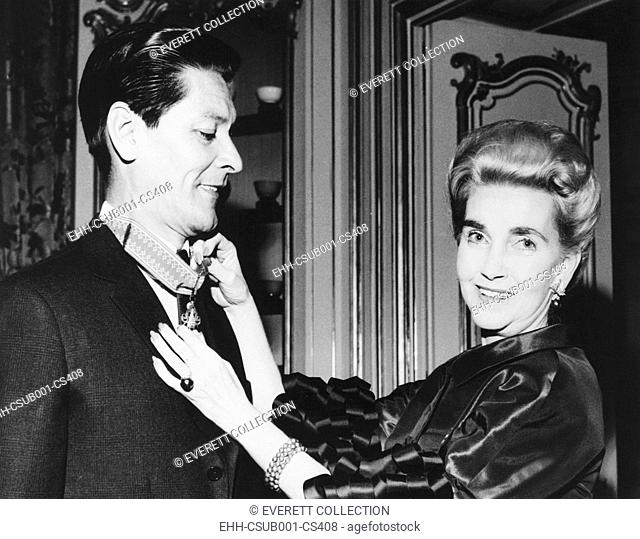 Barbara Hutton with her 7th husband, Prince Pierre Raymond Doan Vinh na Champassak. He was an adopted member of the former royal family of the Kingdom of...
