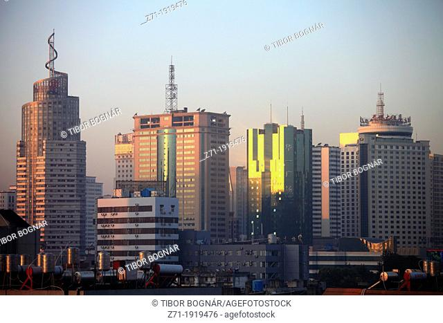 China, Yunnan, Kunming, skyline, modern architecture