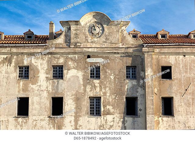 France, Corsica, Corse-du-Sud Department, Corsica South Coast Region, Bonifacio, Le Caserne, old military barracks building