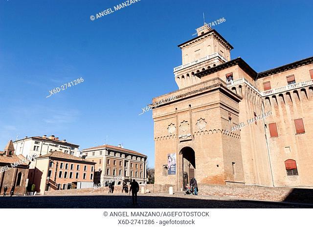 Estense castle, Ferrara, Emilia-Romagna. Italy
