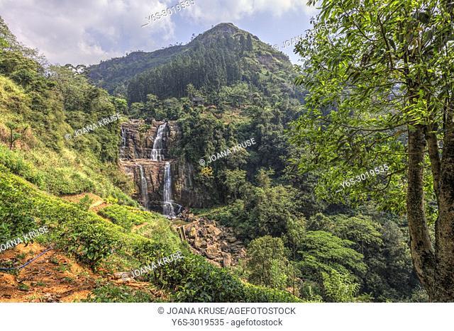 Ramboda Falls, Ramboda, Sri Lanka, Asia