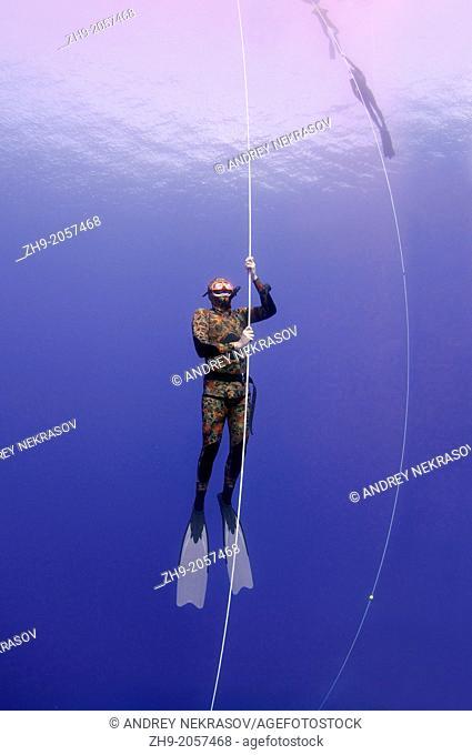 Freediver, Mediterranean Sea, Kas, Turkey