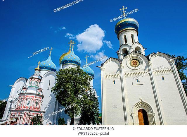 Lavra, Trinity Sergiev Monastery front view, Sergiev Posad, Moscow region, Russia