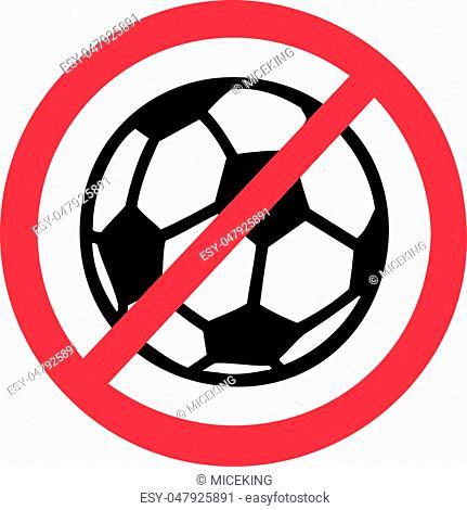 No Soccer Football Ban