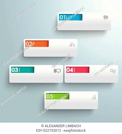 White Rectangles Colored Holes PiAd