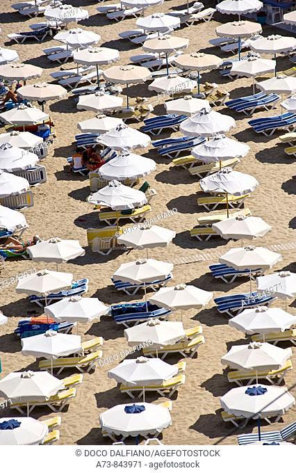Lindos beach, Rhodes. Dodecanese islands, Greece