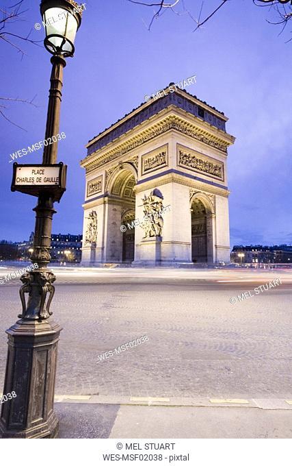 France, Paris, triumphal arch