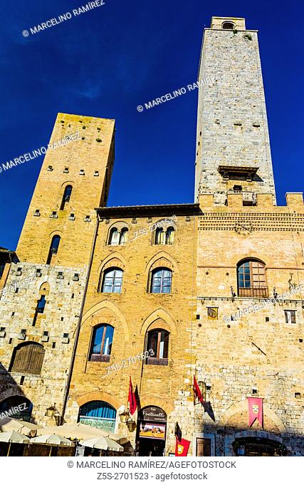 The Medieval Skyscrapers of San Gimignano, Siena, Tuscany, Italy, Europe