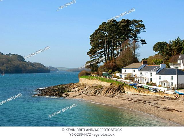 the village of helford paasge near falmouth in cornwall, england, uk