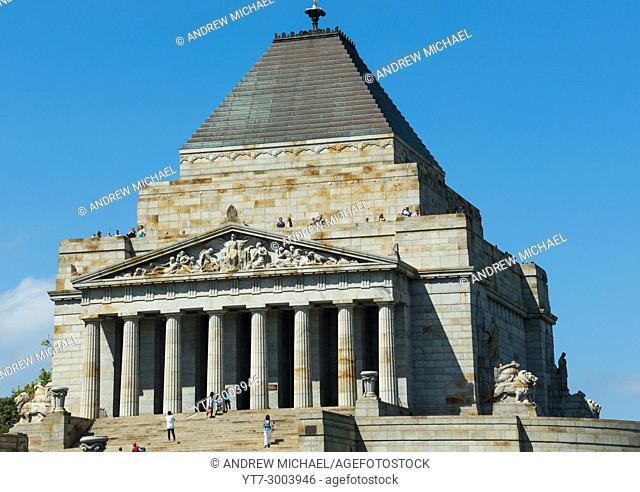 Shrine of Rememberance Melbourne Victoria Australia