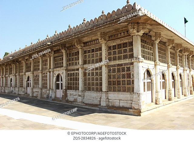 Exterior of Sarkhej Roza mosque in Ahmedabad, Gujarat, India