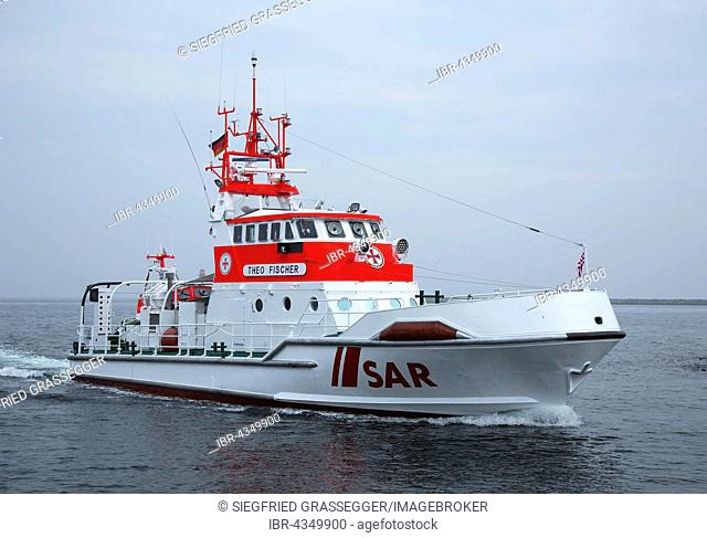 Life boat Theo Fischer, German Maritime Search and Rescue Service, Baltic Sea, Mecklenburg-Western Pomerania, Germany