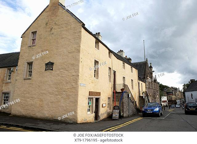 the deans house cross dunblane and dunblane museum previously cathedral museum scotland uk
