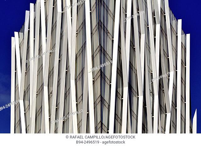 Torre Diagonal Zero Zero by Massip-Bosch architects 2010, new Telefónica Spanish broadband and telecommunications provider headquarters, Forum district