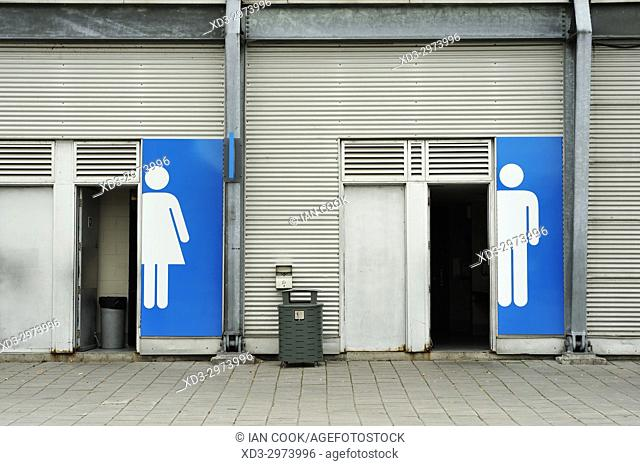 public toilets, Old Port, Montreal, Quebec, Canada