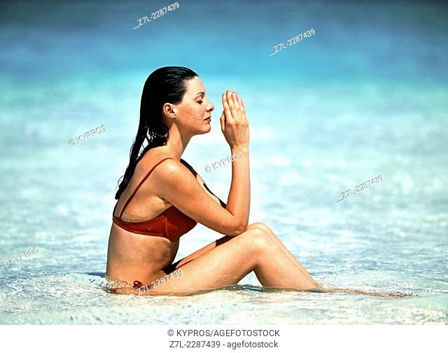 Woman Model Released Maldives Lifestyle Portrait Young Adult One Person Only Young Women Beautiful Alone Caucasian People Photograph