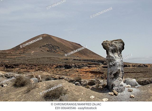 Landscape south of El Mojon, Lanzarote, Spain