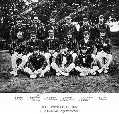 The South African cricket team of 1912. From Imperial Cricket, edited by P F Warner and published by The London and Counties Press Association Ltd (London