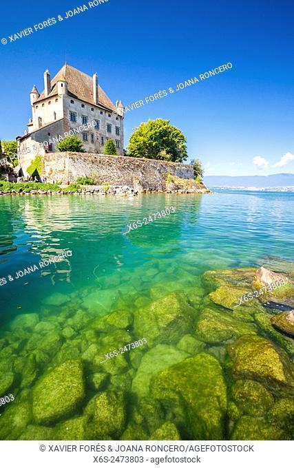 Castle of Yvoire in the shore of Leman Lake, Haute-Savoie, Rhône-Alpes, France