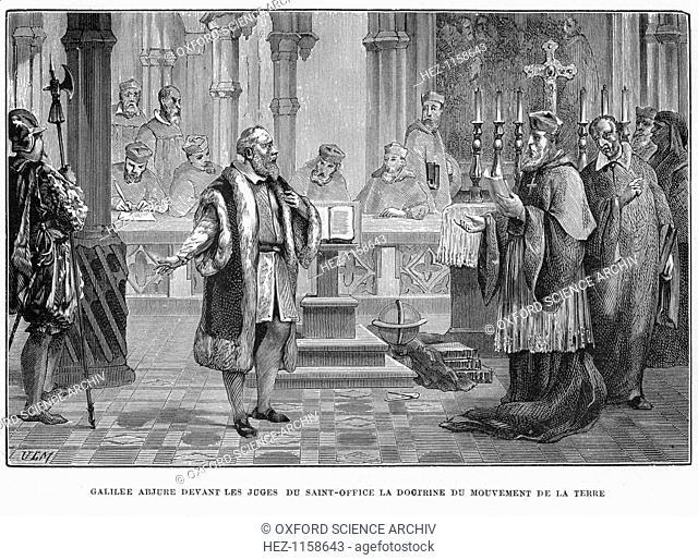 Galileo facing the Inquisition, Rome, 1633 (1870). Galileo Galilei (1564-1642), Italian astronomer, mathematician and physicist