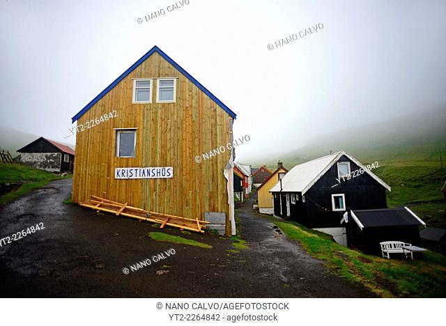 Kristianshús guesthouse in Mykines, Faroe Islands