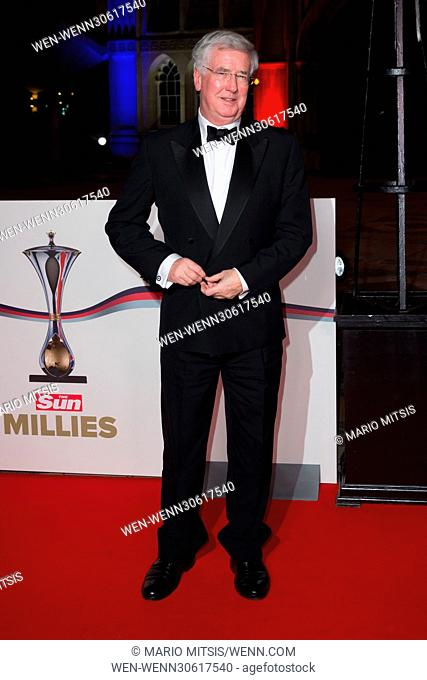 The Sun Military Awards 2016, (MILLIES) held at the Guildhall - Arrivals Featuring: Defence Secretary, The Rt Hon Michael Fallon MP Where: London