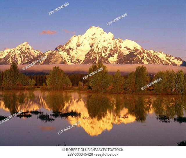 Mt. Moran. Grand Teton National Park. Wyoming. USA