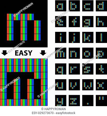Pixel alphabet Stock Photos and Images | age fotostock