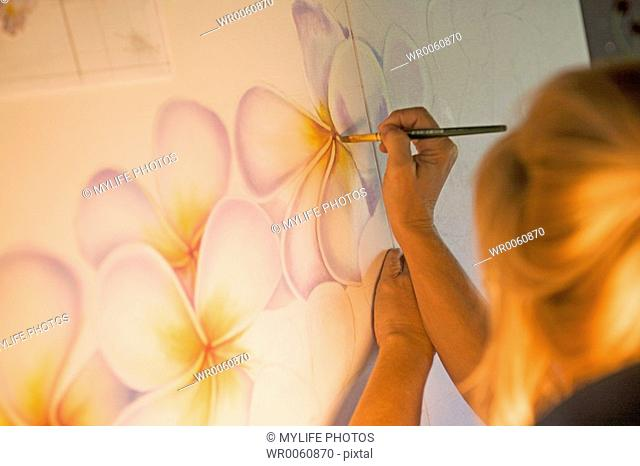 flower painting close up