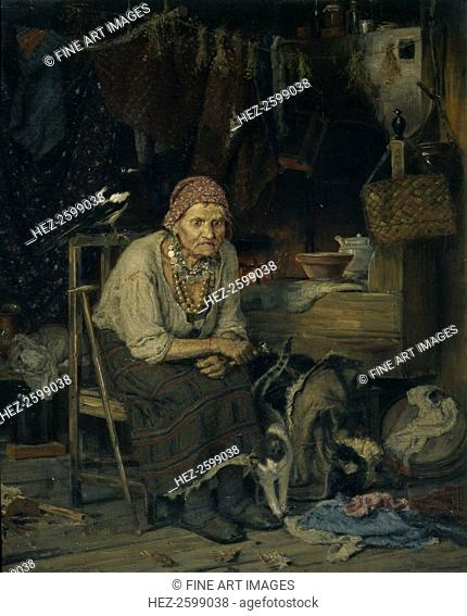 A Witch, 1879. Found in the collection of the State Tretyakov Gallery, Moscow